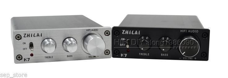 ZEROZONE Hifi TDA7498 Digital Amplifier Power Amp 70W*2 + PSU Treble Bass Adjustment-in Amplifier from Consumer Electronics    2
