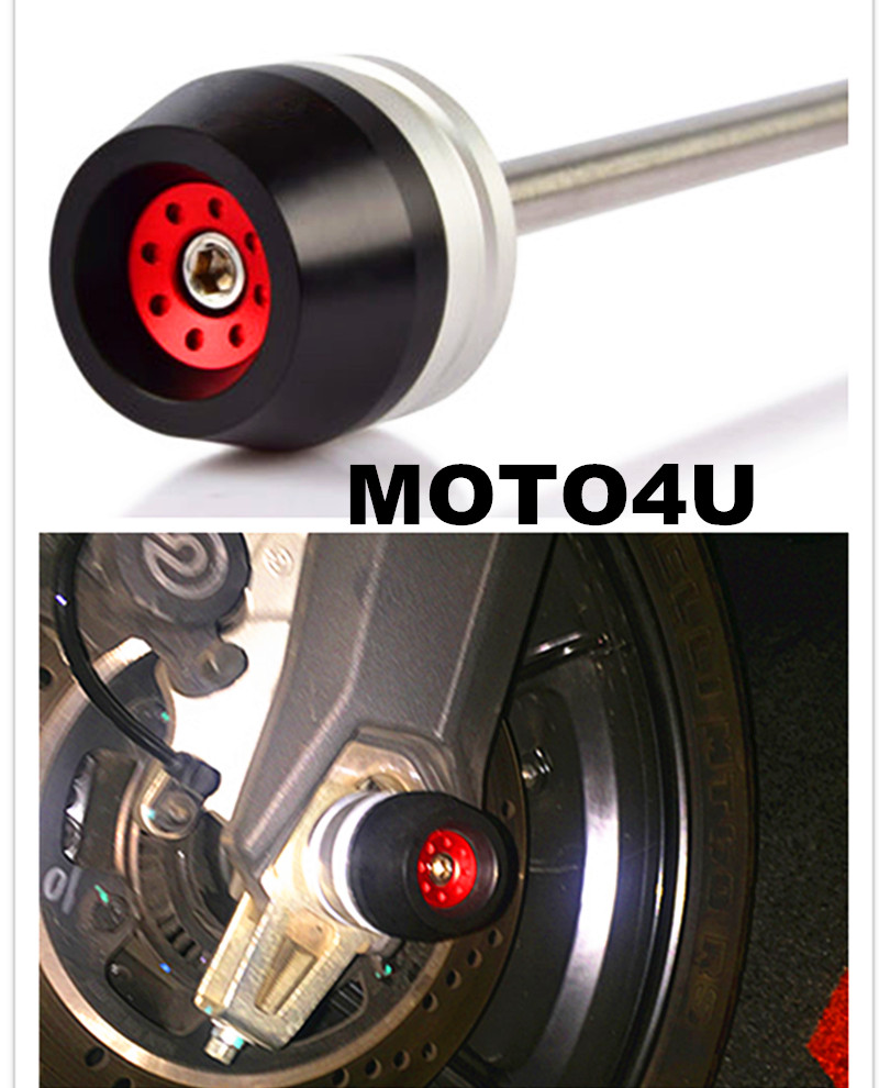 MOTO4U Front Wheel Axle Crash Slider Protector For DUCATI Scrambler tc02311010047 tc0231101004 the housing for front axle