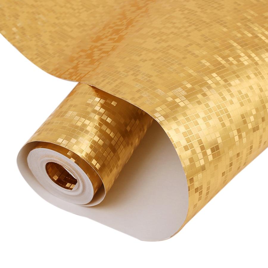 Online kaufen großhandel silber metallic tapeten aus china silber ...