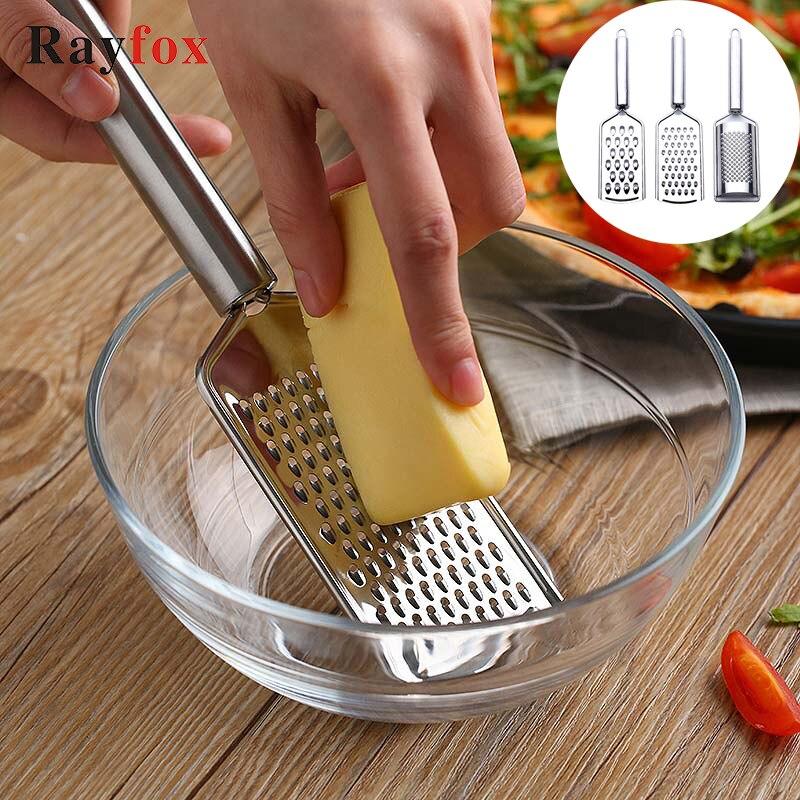 Кухонные аксессуары из нержавеющей стали, 4 стиля, терка для сыра с лимонным зестром, многоцелевой инструмент для овощей и фруктов, кухонные ...
