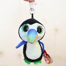 2018 Mais Novo Estilo Original TY Beanie Boos Bicos Tucano Clipe Keychain Plush Stuffed Toy Collectible(China)