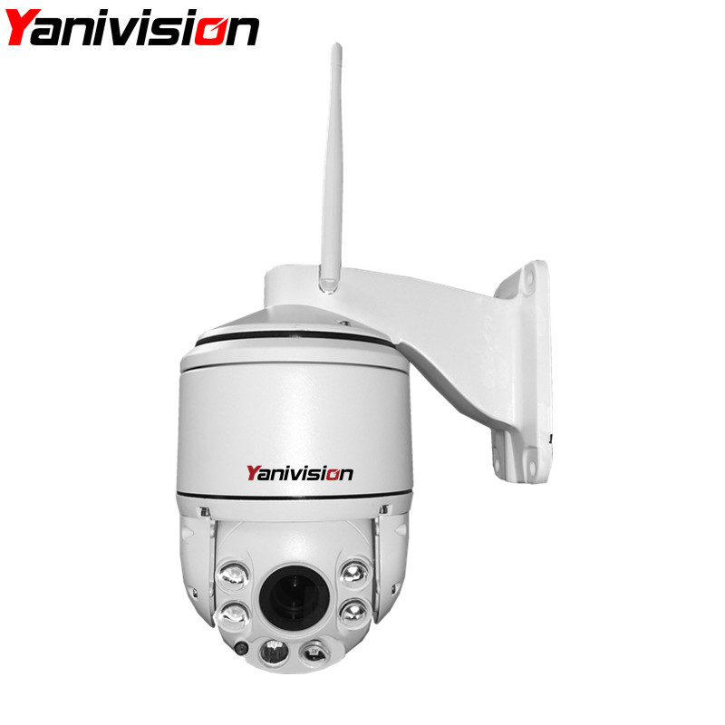 Yanivision Wireless Wifi HD Dome IP Camera Outdoor PTZ Pan/Tilt/Zoom Auto Focus with 960P and 1080P Optional wifi ptz dome cam ...