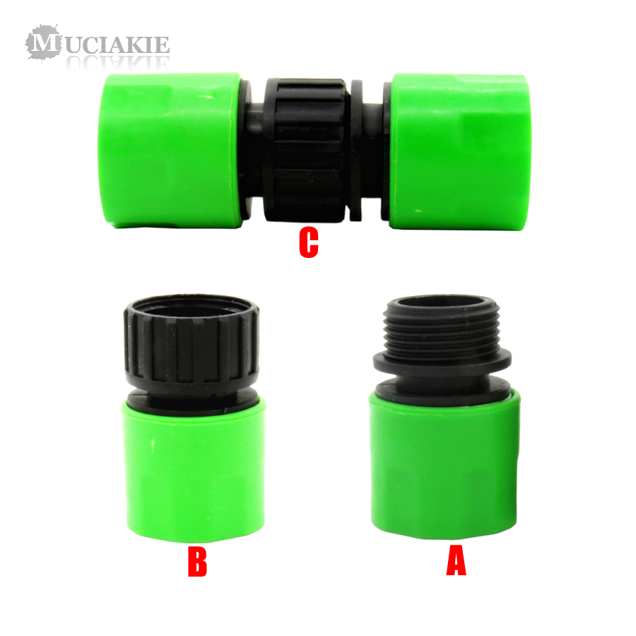 MUCIAKIE 1PC Male Female Hose Connector From Quick Adaptor To 3/4'' Hose Thread Connector Garden Quick Coupling Irrigation