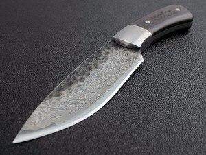Image 4 - Stal wysokowęglowa wzór damasceński ostrze stałe nóż myśliwski ostry ręcznie kute ostrze Camping Tactical Survival narzędzie ratunkowe