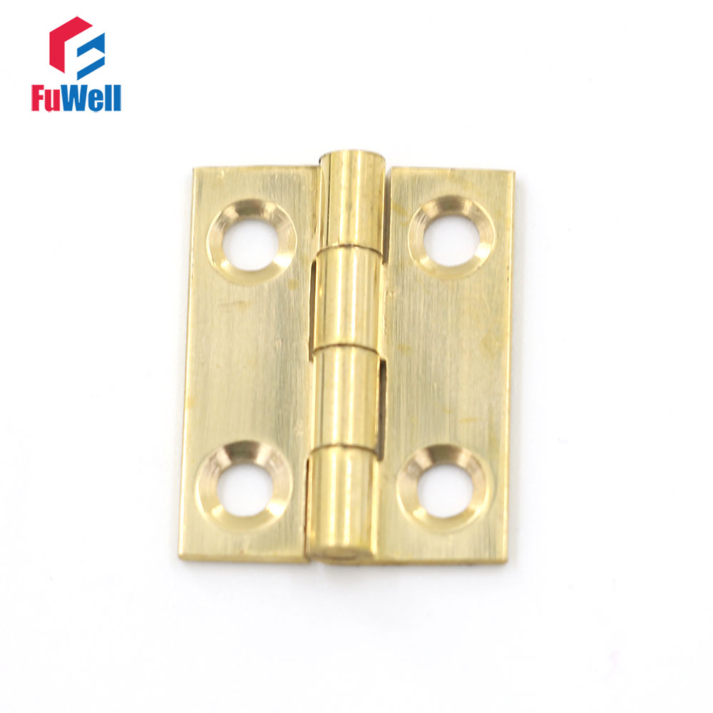 6pcs 1'' Mini Door Hinges 1mm Thickness Brass Hinges for ...