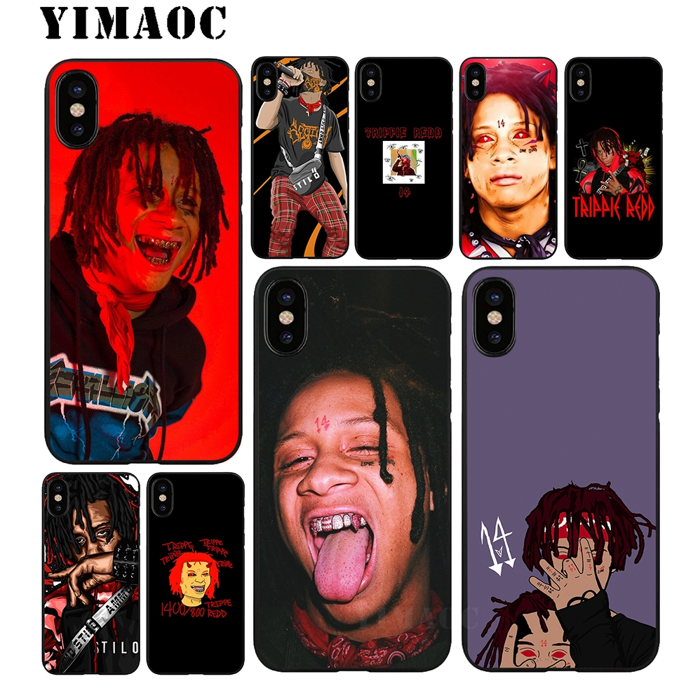 Yimaoc Trippie Redd Rapper Soft Tpu Black Silicone Case