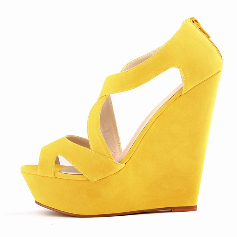 women ladies high heels platform women court casual pumps wedding ankle boots shoes yellowchina