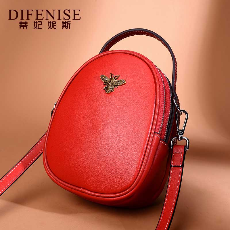 Difenise Genuine Leather Women's Fashion Crossbody Bags First Layer Of Cowhide Messenger Bags Female Designer Shoulder Tote Bag fashion women messenger bags famous brand crossbody shoulder tote ladies quality first layer cowhide genuine leather female bag