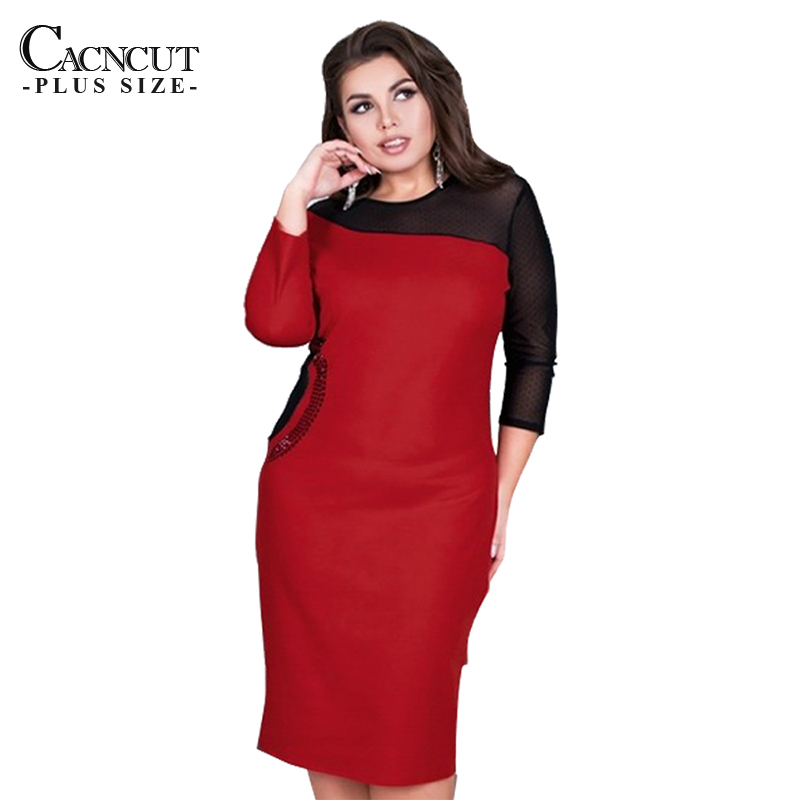 CACNCUT 5XL Summer Plus Size Women Dress Spring Casual Mesh 6XL Dress 2019 Big Large Size Sexy Lady Evening Party Club Clothing
