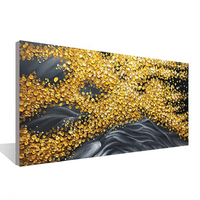 Flowing golden years mural art hand painted canvas painting no frame room wall wall office decoration painting abstract