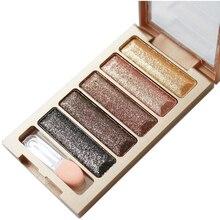2016 new brand 5 Color Glitter Eyeshadow Makeup Eye Shadow Palette,Super Flash Diamond Eyeshadow High Quality With Brush