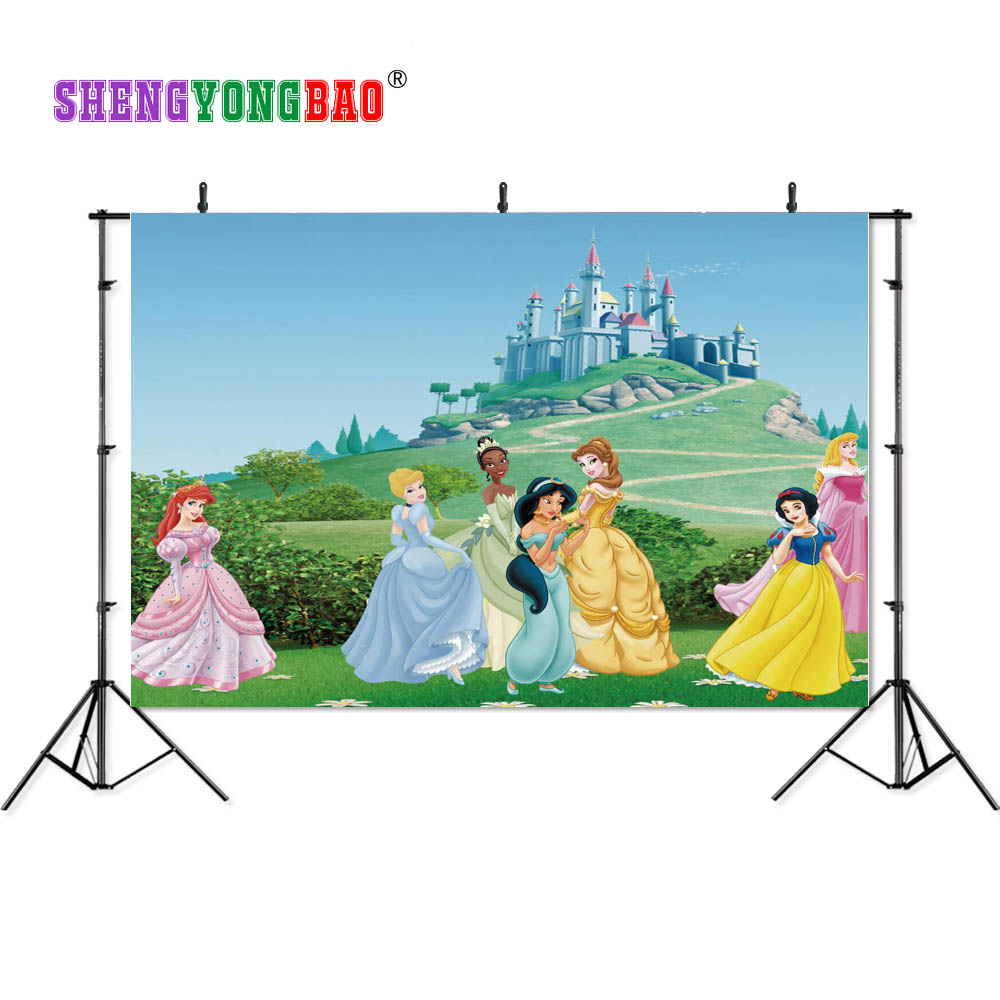 SHENGYONGBAO Art Cloth Custom Photography Backdrops Prop Cartoon Snow White theme Photo Studio Background W19329 41 in Background from Consumer Electronics