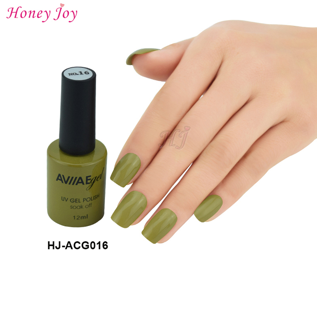 Aviiae Cactus Green Khaki Gel Nail Polish Long Lasting Soak Off Led Uv L