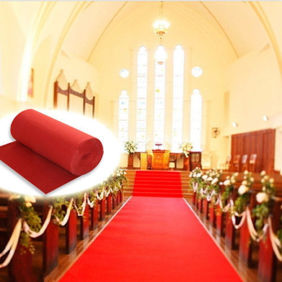 Red Carpet Polyester Large Wedding Aisle Floor Runner Rug Hollywood Awards Events Party Decoration 10m 20m In Diy Decorations