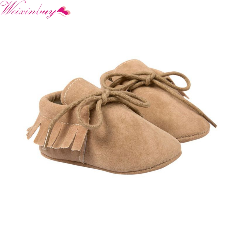 Lovelystar 2017 Baby Shoes First Walkers Lace-up Shoes Infant Toddler Soft Soled Boots Khaki