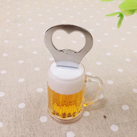 Creative Simulation Beer Bottle Opener Shape Design Home Decoration Fridge Magnets Free Shipping Bj0126