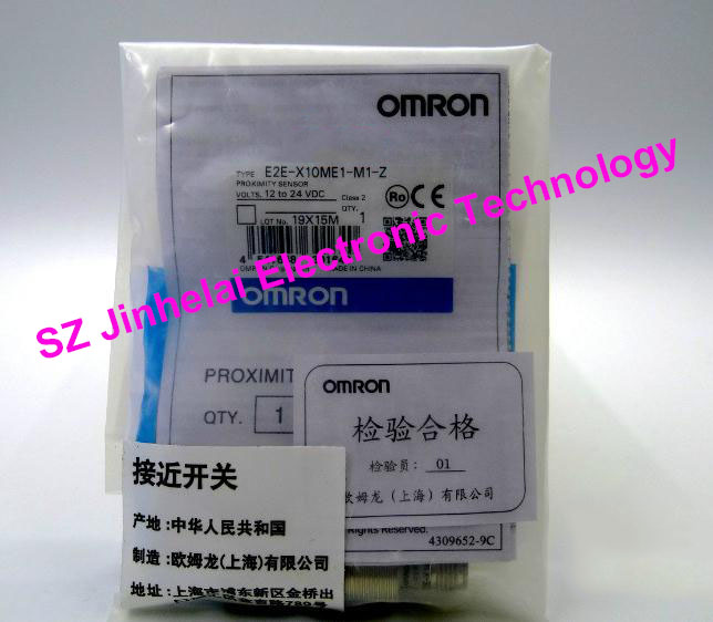 100% New and original OMRON Proximity switch, Proximity sensor E2E-X10ME1-M1-Z  12-24VDC [zob] new original omron shanghai omron proximity switch e2e x18me1 2m 2pcs lot