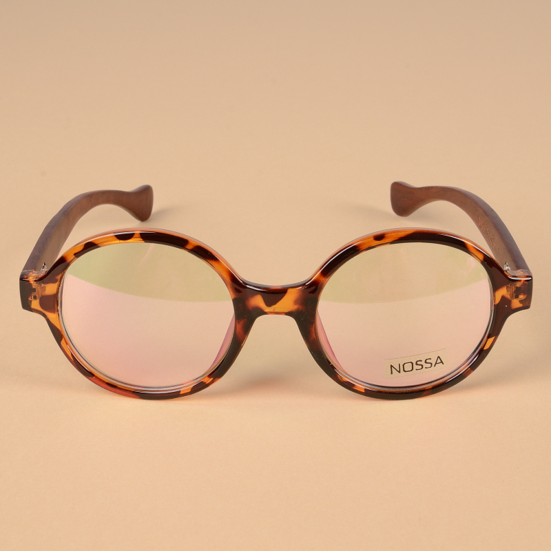 48fcbeb61d2 Japan Handmade Wooden Vintage Round Frame Eyeglasses Women Men ...