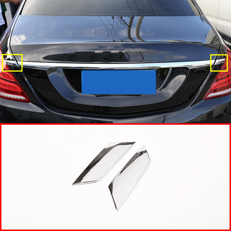 2Pcs Car Rear Tail Cover Strips Sequins Molding Trim Decoration <font><b>Sticker</b></font> for Mercedes Benz <font><b>S</b></font> Class W222 2014-2018 Car styling image