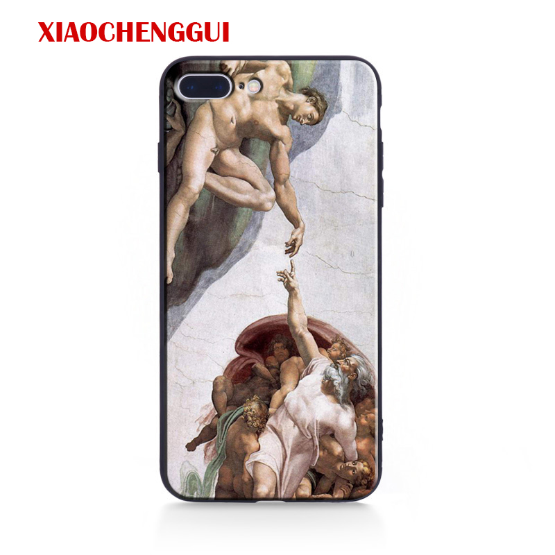 Galleria fotografica Art Fresco Michelangelo Amazing Coque Tpu Soft Silicone Phone Case Cover Shell For Apple IPhone 5 5s SE 6 6s 7 8 Plus X 10