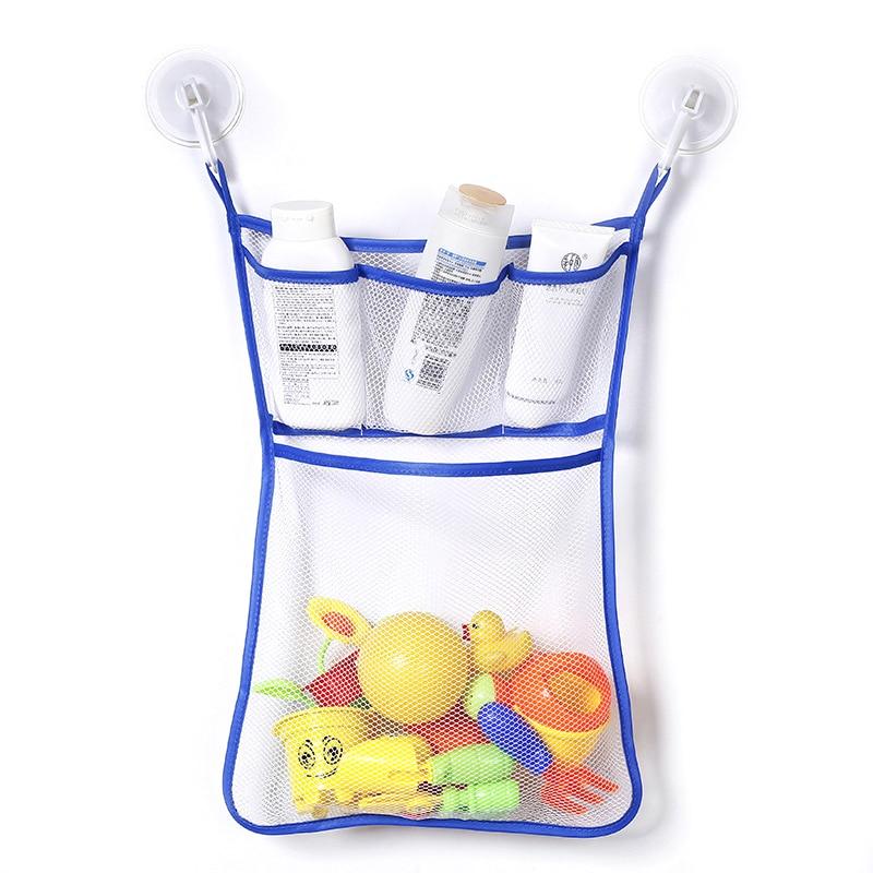 1 Pc Bad Mesh Net Lagerung Tasche Mit Haken Durable Baby Bad Badewanne Spielzeug Hängen Tasche Veranstalter Halter Für Home 33x45 Cm