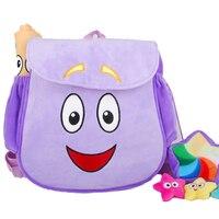 Дора-путешественник мягкий плюшевый рюкзак сумка с комплектом первой помощи с картой, фиолетовые пред-игрушки для детского сада фиолетовый...