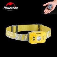 Новое поступление налобный фонарь Naturehike светодиодный фонарь датчик движения лампа с налобный фонарь с зарядкой от USB Ночная Рыбалка Туризм Бег