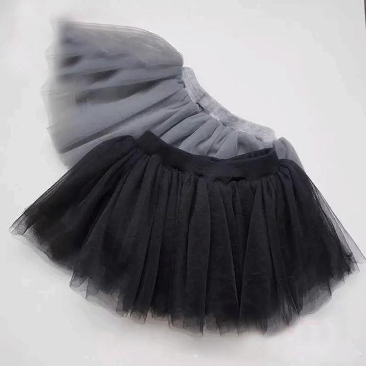 Kids Baby Girls Skirt Kids Cute Ball Gown Dance Pettiskirt Net Veil Skirt Toddler Wedding Party Fluffy Tulle TUTU Skirts black  (1)