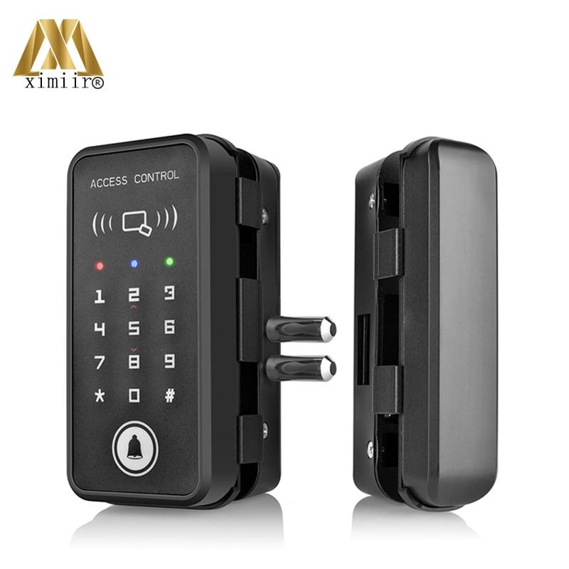 Glass Door Lock Wooden Door Lock With Password & Card Door Lock Home Office Anti-theft Security Electric Lock XM-R1