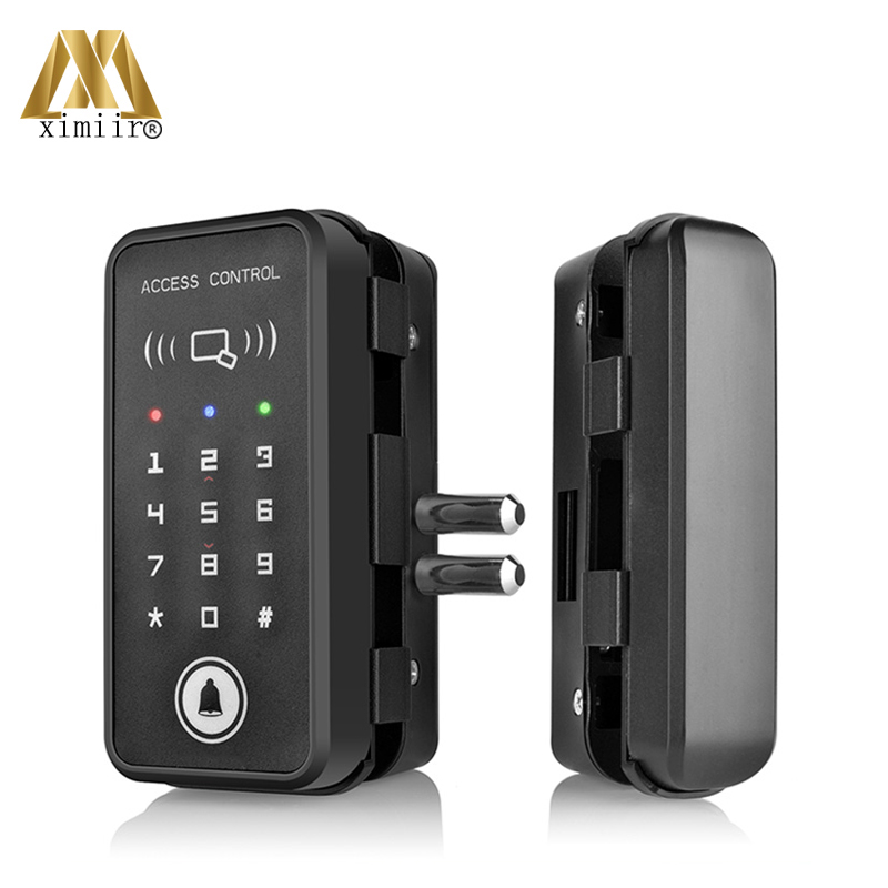 Glass Door Lock Wooden Door Lock With Password & Card Door Lock Home Office Anti-theft Security Electric Lock XM-R1 image