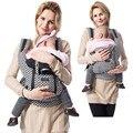 Safty mengybaor alta calidad 2016 transpirable multifuncional 100% algodón chicco portabebés viajes infantil honda del morral wrap