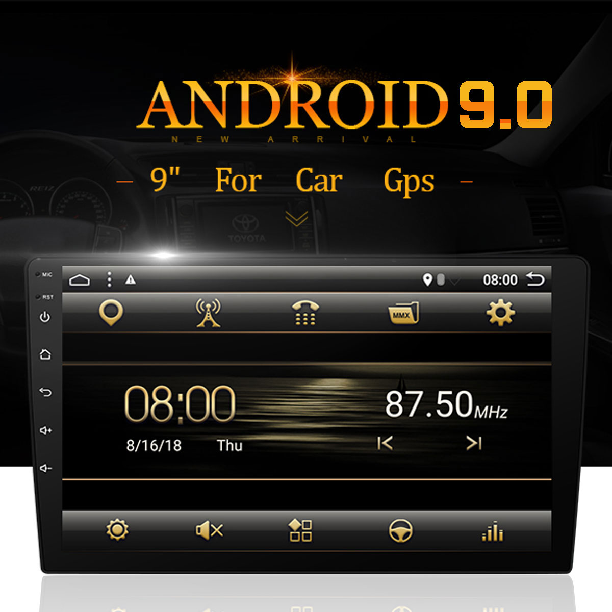 10.1 8core 4+32G Android 9.0 Car MP5 Player Car Radio 2DIN PX6 bluetooth GPS Universal Car Multimedia Player with Backup Camera10.1 8core 4+32G Android 9.0 Car MP5 Player Car Radio 2DIN PX6 bluetooth GPS Universal Car Multimedia Player with Backup Camera