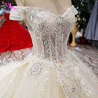 AIJINGYU 2018 luxury crystal sparkling diamond custom made new hot selling gown v neck formal bride dresses wedding dress WT127