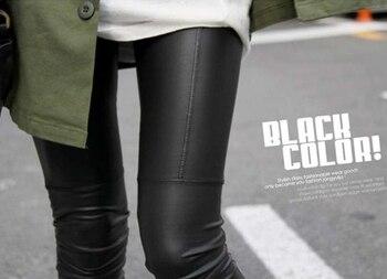 2019 women sexy Black coffee Modal leggings leggin plus size girl pants Patent leggings free shipping 5