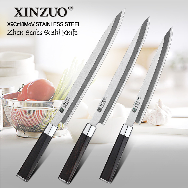 XINZUO 9 5 10 12 in Fish Filleting Knife High Carbon X9Cr18MoV Steel Kitchen Knives with