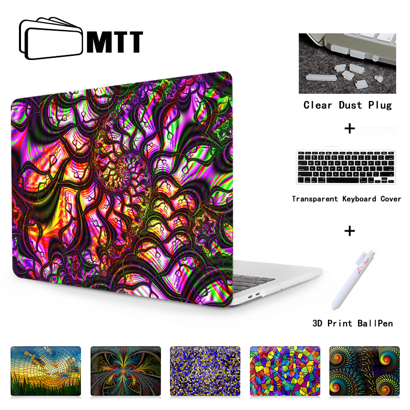 MTT Church Stained Glass Case for Macbook Pro 13 Touch bar 2016 Model A1708 A1707 For Macbook Air 13 11 Pro retina 12 13 15 inch