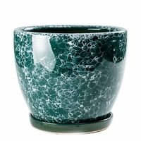 Chinese style Ceramic Flower pots Creative meaty bonsai green plant pot Home indoor flower pot Spot Wholesale