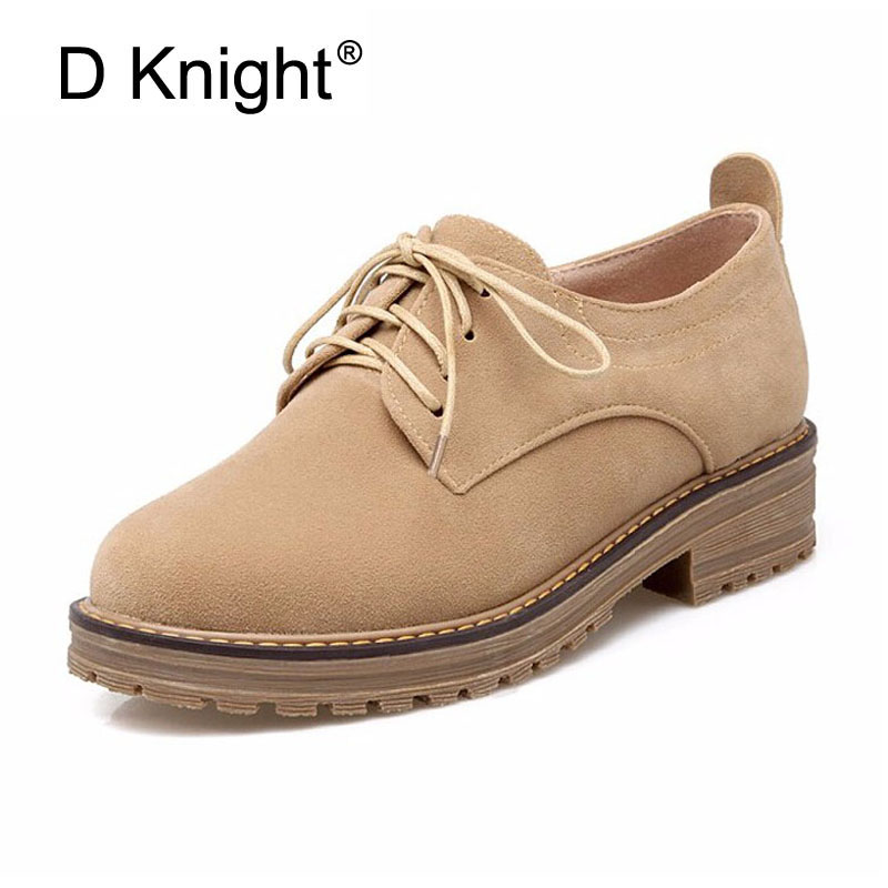 Women Flats 2018 New Spring Fashion Shoes Women Causal Shoes with Lace-up Retro Style Oxfords Shoes For Woman Student Size 34-43