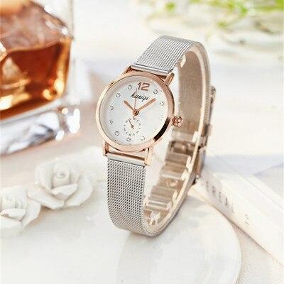 Стразы из нержавеющей стали, парные часы для мужчин и женщин,, роскошные кварцевые наручные часы для влюбленных, унисекс, часы Montres Femme - Цвет: female