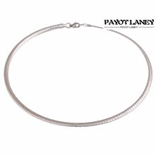 Silver Tone Stainless Steel Flat Choker European Necklace For Fashion Women Men Choker Necklaces Jewelry Around Chain(China)