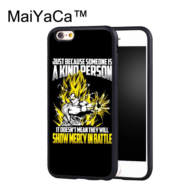 MaiYaCa Son Goku Super Saiyan Dragon Ball Printed Phone Cases For IPhone 6 Plus 6s Luxury Back Cover Black TPU Shell In Fitted From