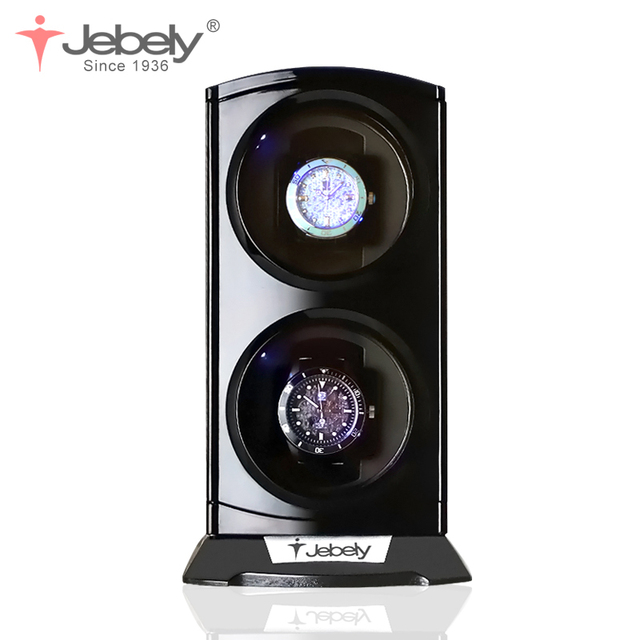 Jebely New Arrival Black Double Watch Winder for automatic watches Automatic Double Watches box Jewelry Watch Display Box 1