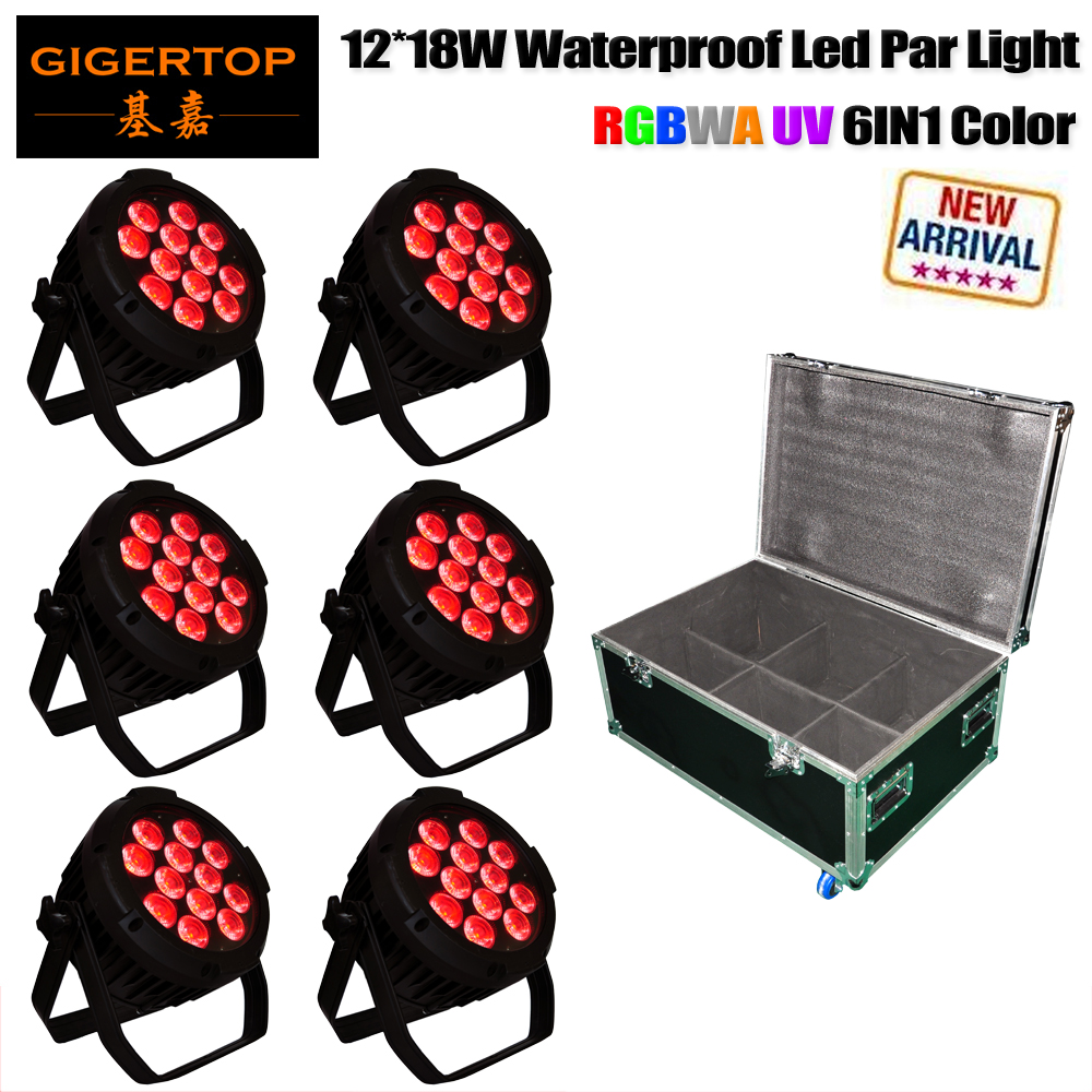 Flight Case Packing 12x18W RGBWA Sharpy Outdoor Led Par Cans Die Casting Aluminum Glass Cover Big Housing 1m Power/DMX CableFlight Case Packing 12x18W RGBWA Sharpy Outdoor Led Par Cans Die Casting Aluminum Glass Cover Big Housing 1m Power/DMX Cable