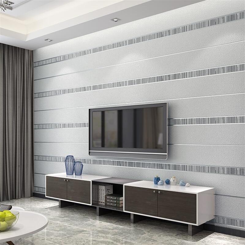Beibehang Peau de Daim papier peint moderne minimaliste 3d style Nordique papier peint salon maison ambiance new TV fond d'écran