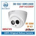 Dahua HDCVI Câmera de 2MP HD 1080 P DH-HAC-HDW1200E Rede IR Dome Câmera de Segurança CCTV IR distância 50 m HAC-HDW1200E