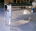 Rimming MR-401115Y plata reflejado en el pecho/mesa auxiliar muebles con espejo para muebles de dormitorio