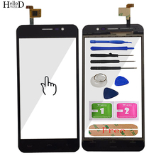 Mobile Touch Screen Digitizer Panel Front Glass For Homtom S12 TouchScreen Touch Screen Sensor Tools + Free Adhesive
