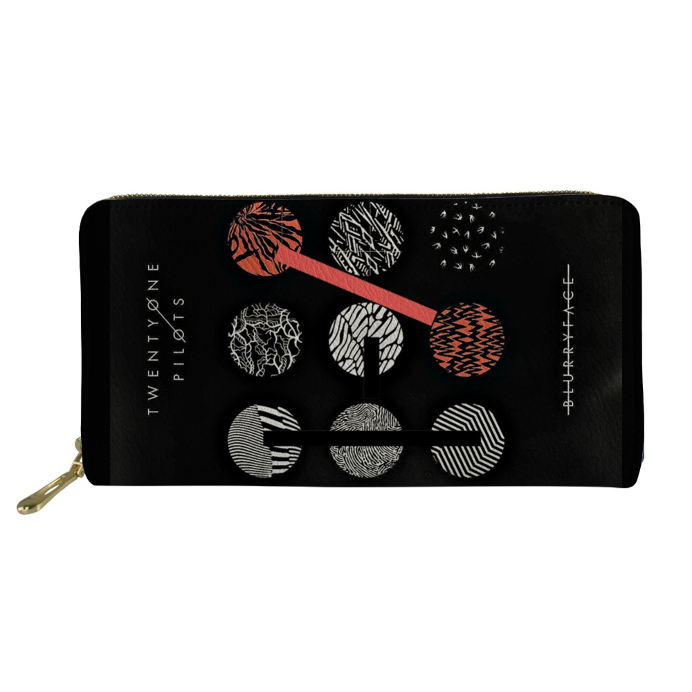 Twenty One Pilots print Women Long Clutch Wallet Large Capacity Wallets Female Purse Lady Phone Pocket Card Holder Carteras