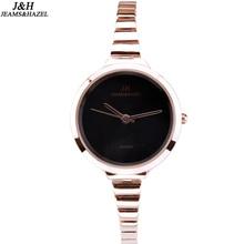 Купить с кэшбэком 2016 festival Memorial Day gift Enmex women creative slim strap wristwatch brief design elegance fashion quartz lady watches