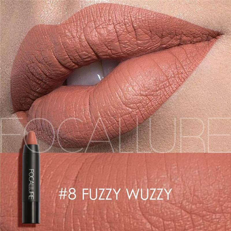 FOCALLURE Nude lipsticks Lips Makeup Moisturizing Non-marking Matte Crayon Lip Rouge Sticks 19 color Long Lasting Waterproof YE1